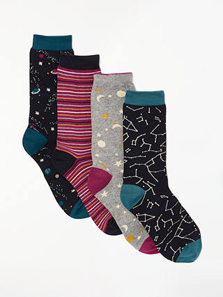 Buy Thought Night Sky Sock Box, One Size, Pack of 4, Multi Online at johnlewis.com