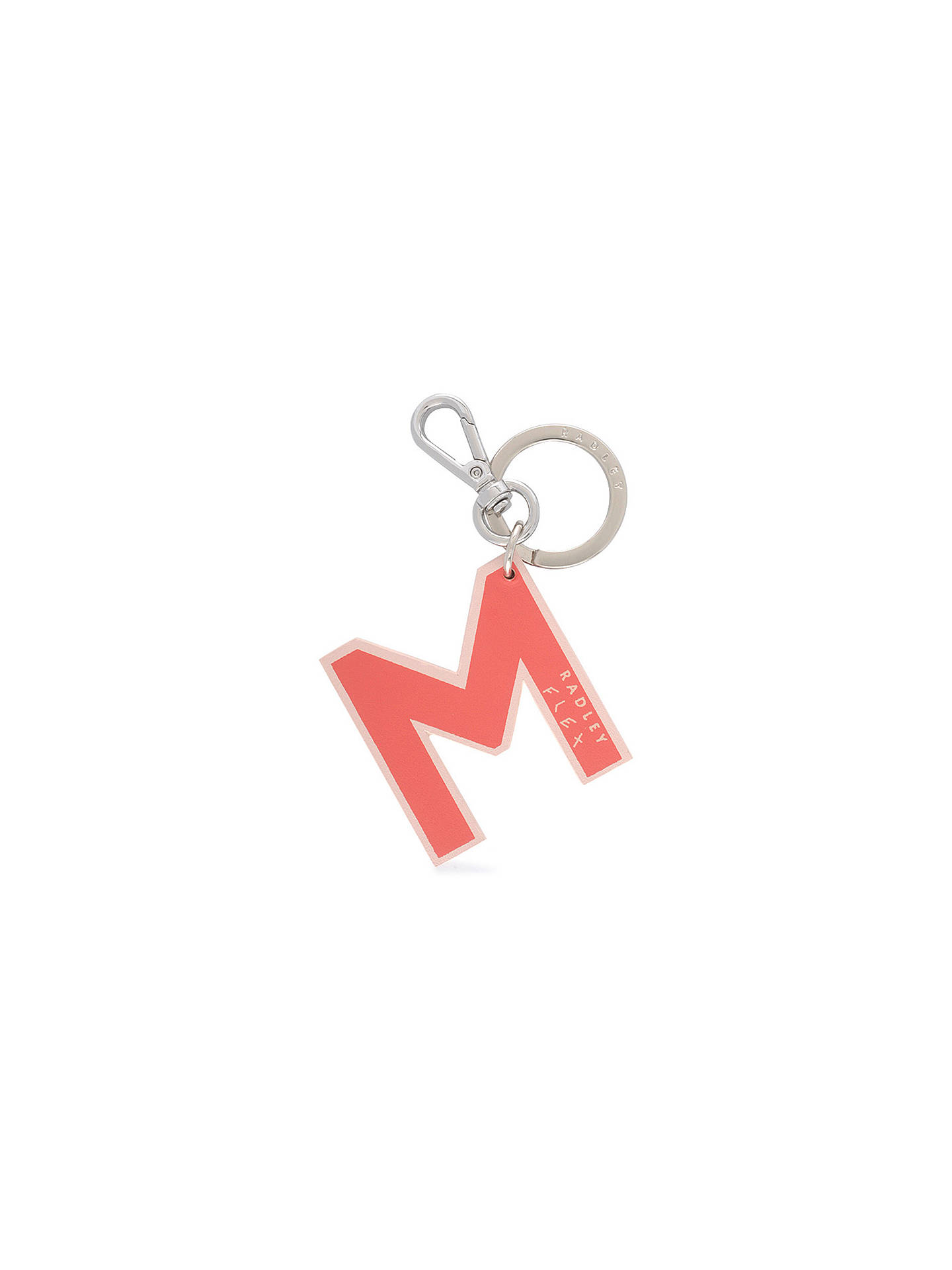 Buy Radley Flex Letters Small Bag Charm, Coral Pink M Online at johnlewis.com