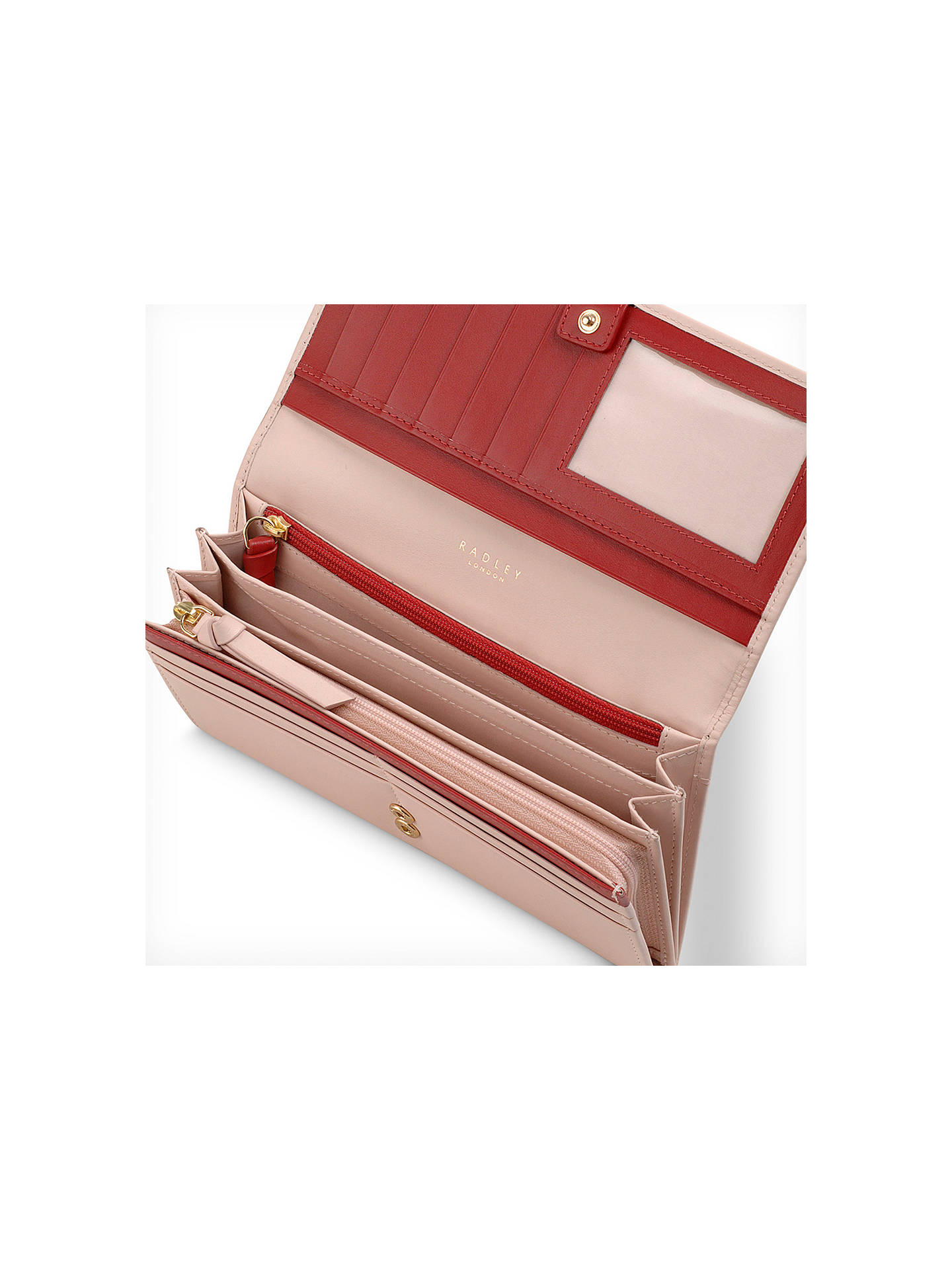 Buy Radley In Bloom Large Flapover Leather Matinee Purse, Blush Online at johnlewis.com