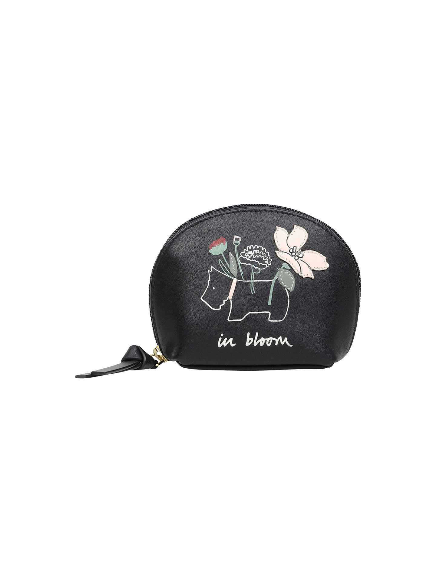 Buy Radley In Bloom Leather Small Coin Purse, Black Online at johnlewis.com