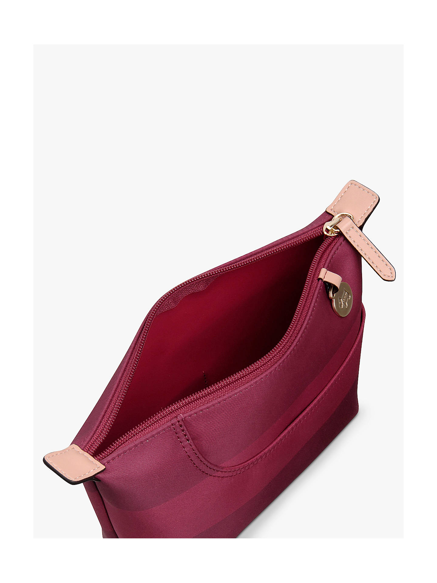 Buy Radley Pocket Essentials Fabric Medium Pouch Bag, Red Online at johnlewis.com
