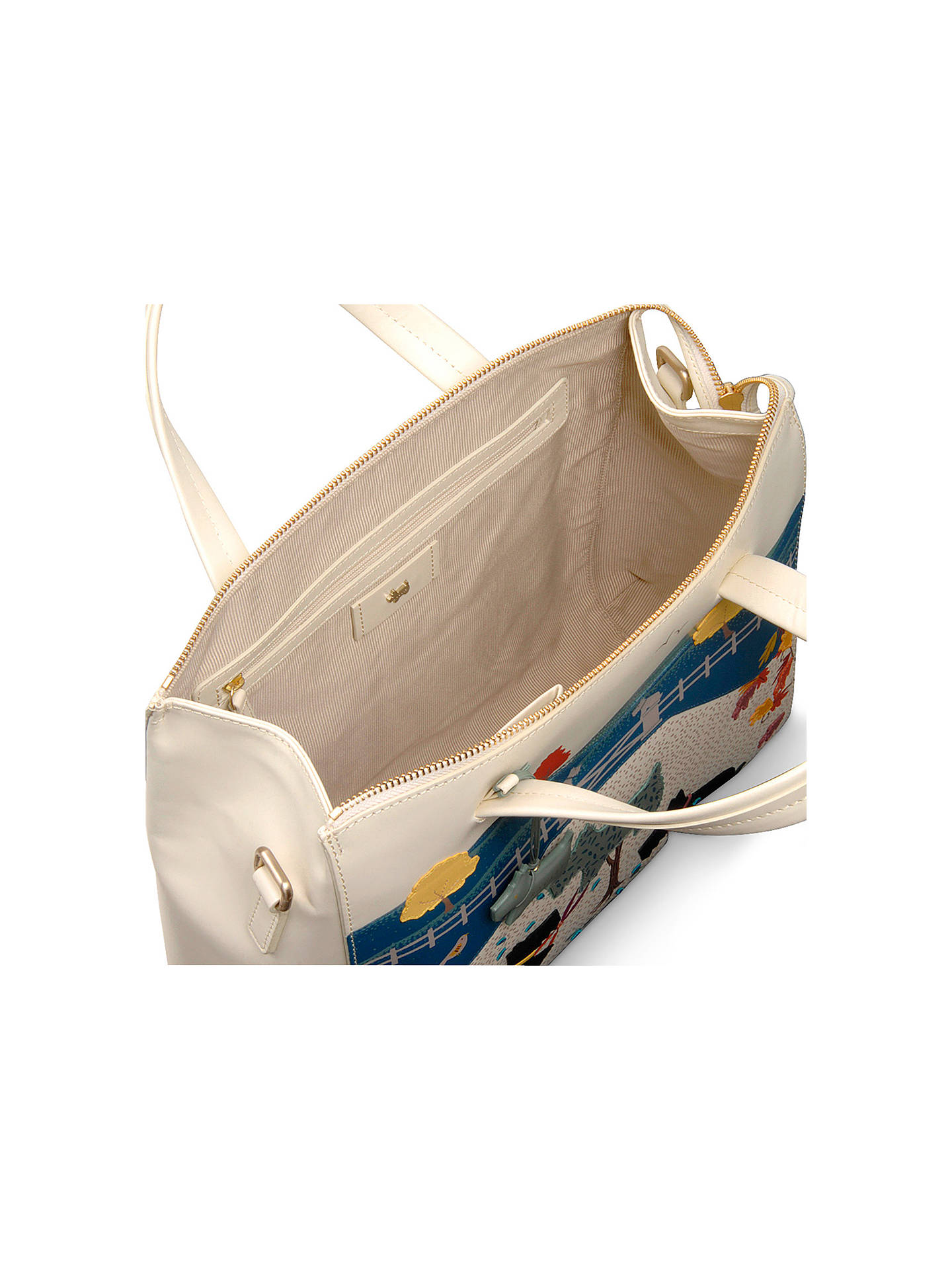 Buy Radley Large Multiway Leather Grab Bag, Ivory Online at johnlewis.com
