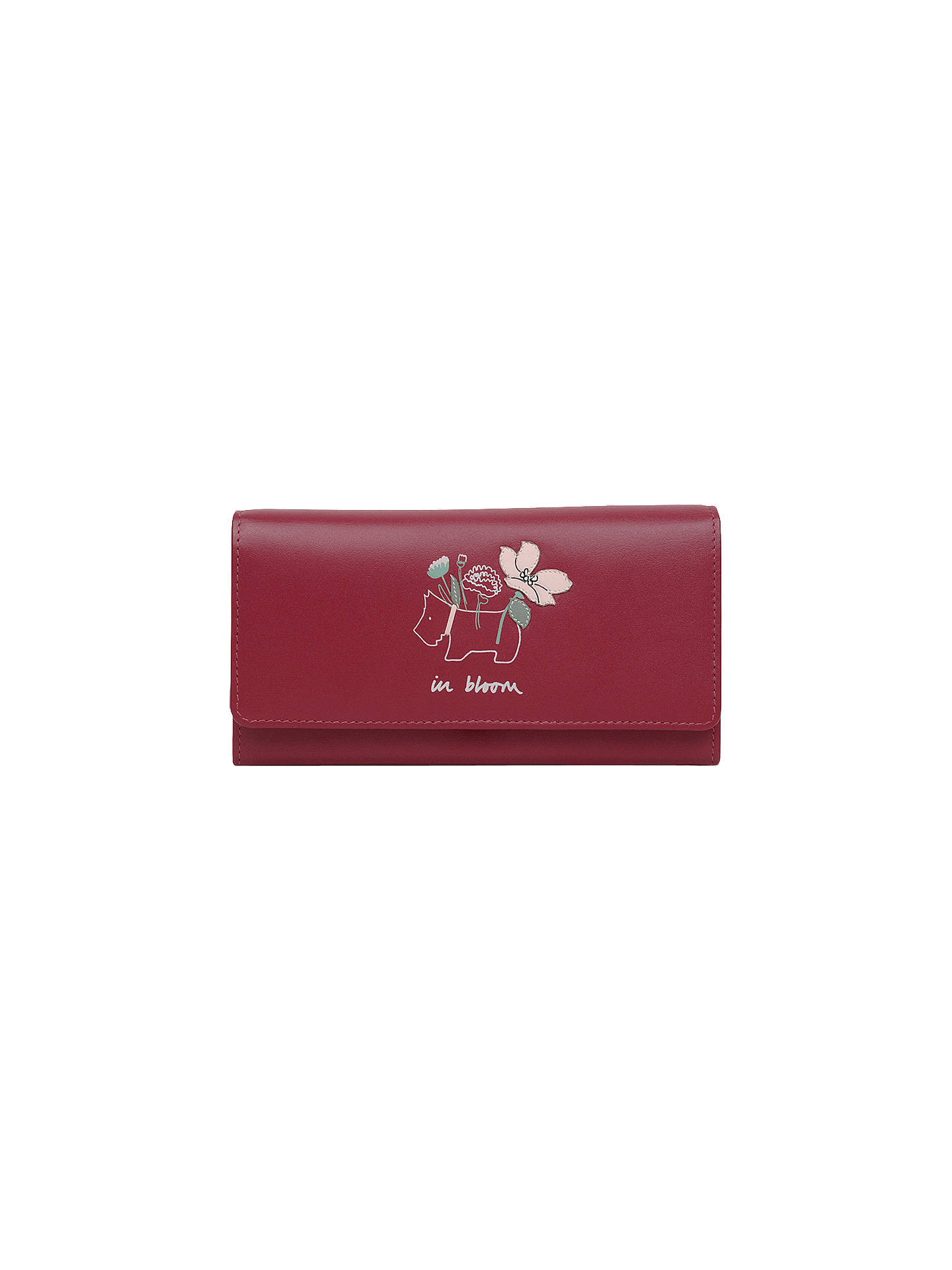 Buy Radley In Bloom Leather Large Flapover Matinee Purse, Red Online at johnlewis.com