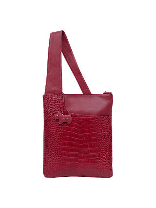 Buy Radley Patch Pocket Leather Cross Body Bag, Claret Red Online at johnlewis.com