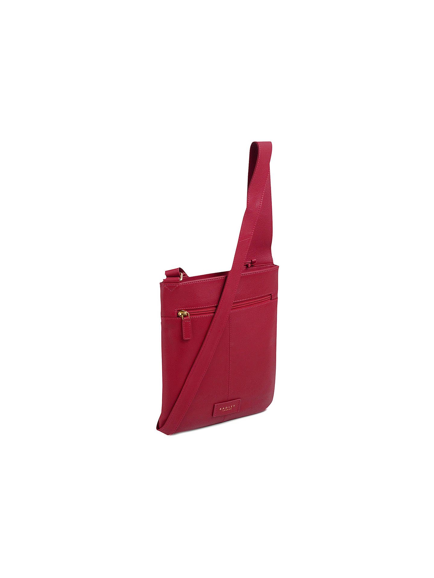BuyRadley Patch Pocket Leather Cross Body Bag, Claret Red Online at johnlewis.com