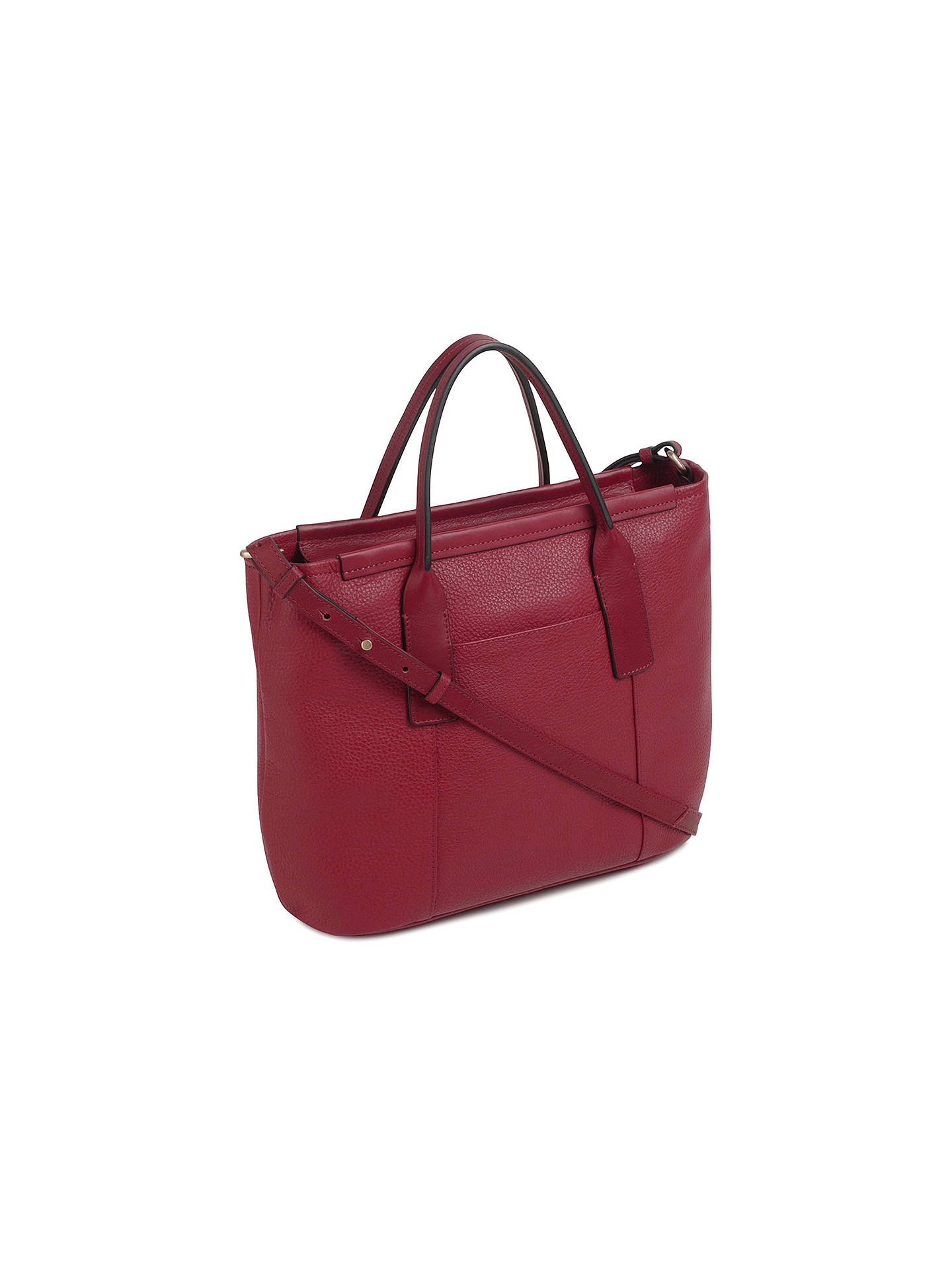 Buy Radley Leather Medium Multiway Grab Bag, Claret Red Online at johnlewis.com