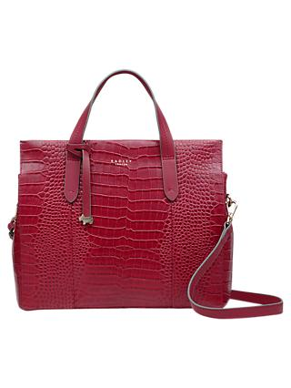 Radley Textured Leather Medium Multiway Grab Bag Claret Red