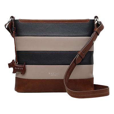 Radley Babington Leather Zip Top Cross Body Bag, Multi