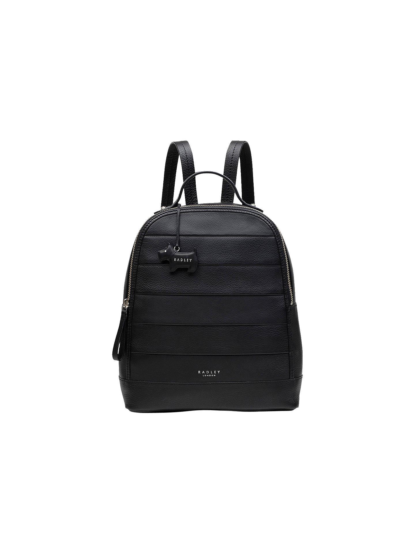 7c37cd3be820 BuyRadley Babington Medium Leather Backpack, Black Online at johnlewis.com  ...
