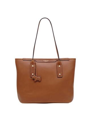 Radley Medium Patcham Place Zip Top Leather Shoulder Bag Tan
