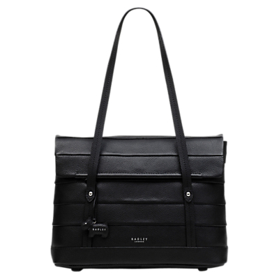 Radley Medium Babington Flapover Leather Shoulder Bag, Black