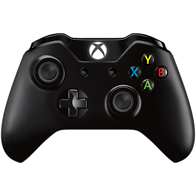 Image of Microsoft Xbox One Wireless Controller with Wireless Adapter for Windows 10 PCs, Black