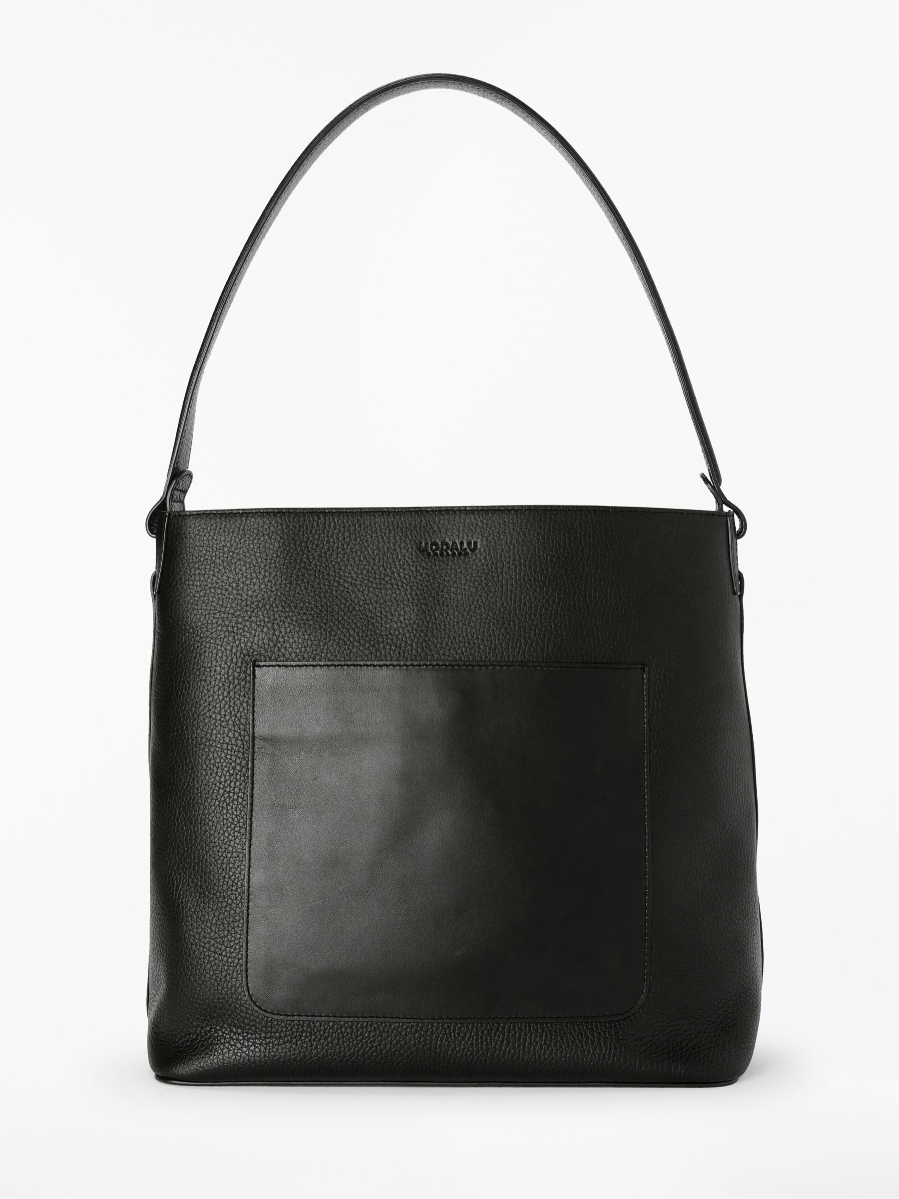 Modalu Modalu Imogen Leather Hobo Bag, Black