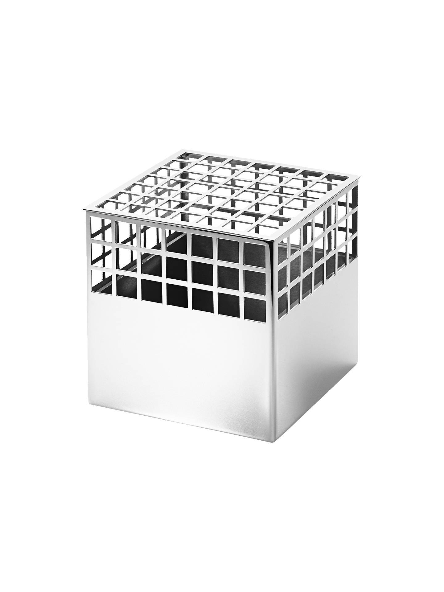 Georg Jensen Matrix Cube Vase Medium At John Lewis Partners - Black-and-white-matrix-storage-cube-collection