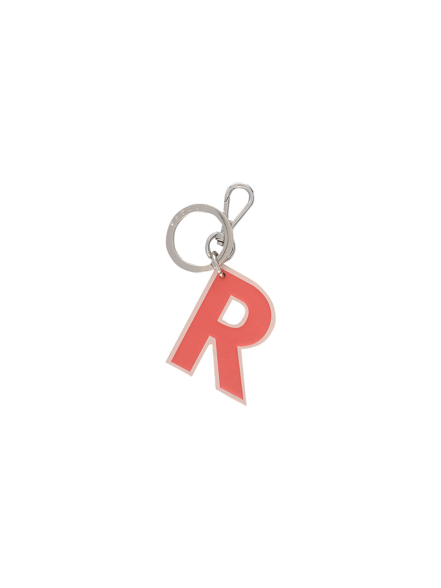 Buy Radley Flex Letters Small Bag Charm, Pink R Online at johnlewis.com