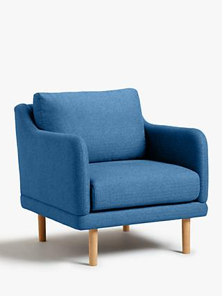 House by John Lewis Sweep Armchair, Light Leg