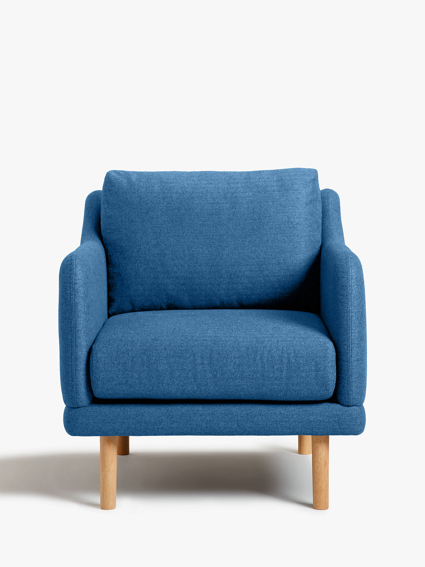 Buy House by John Lewis Sweep Armchair, Light Leg, Saga Ocean Online at johnlewis.com