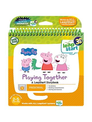LeapFrog LeapStart Playing Together Peppa Pig Storybook