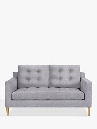 John Lewis & Partners Draper Medium 2 Seater Sofa, Light Leg, Saga Grey
