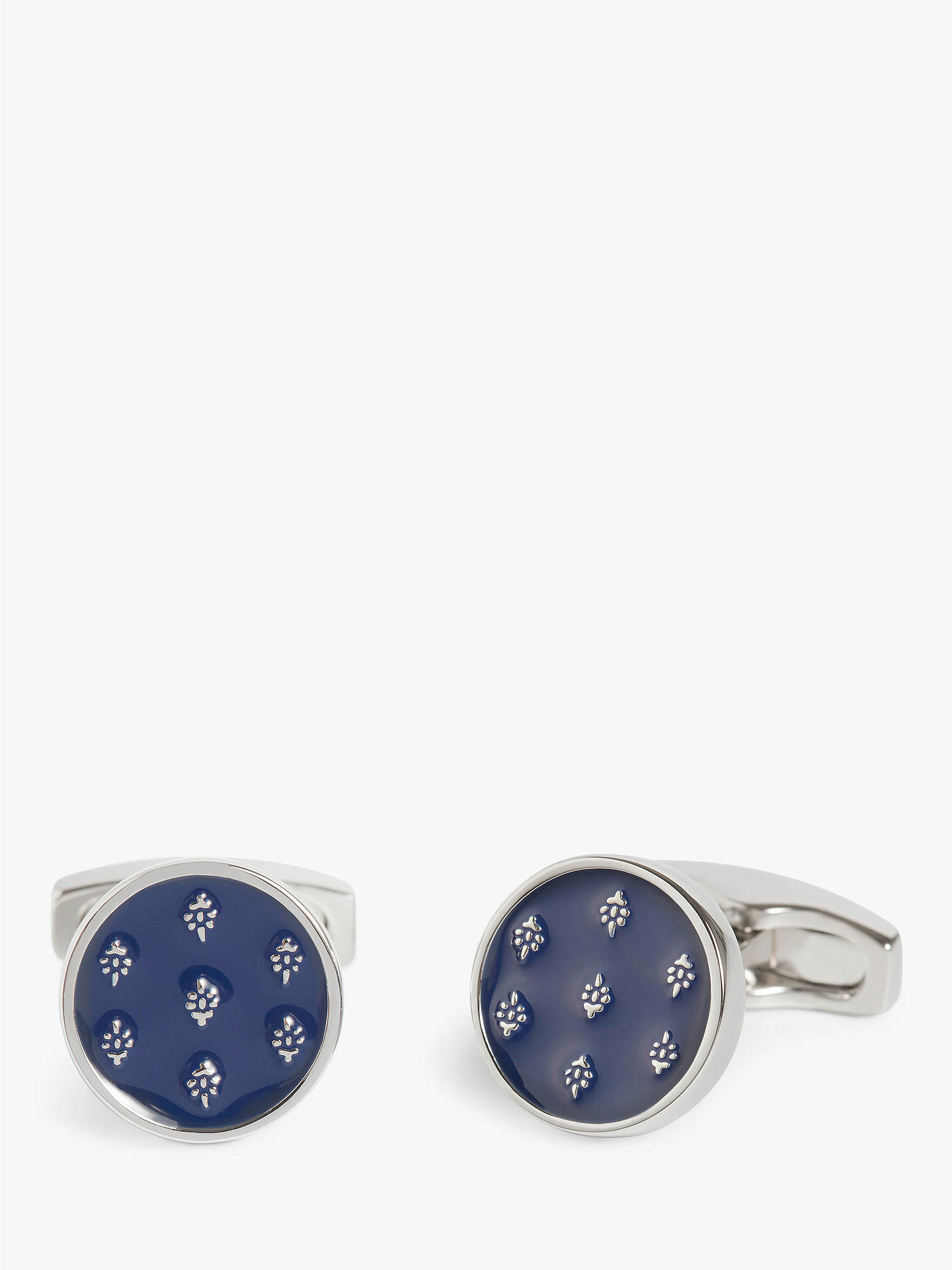 Buy Simon Carter for John Lewis & Partners Archive Enamel Ditsy Cufflinks, Navy Online at johnlewis.com