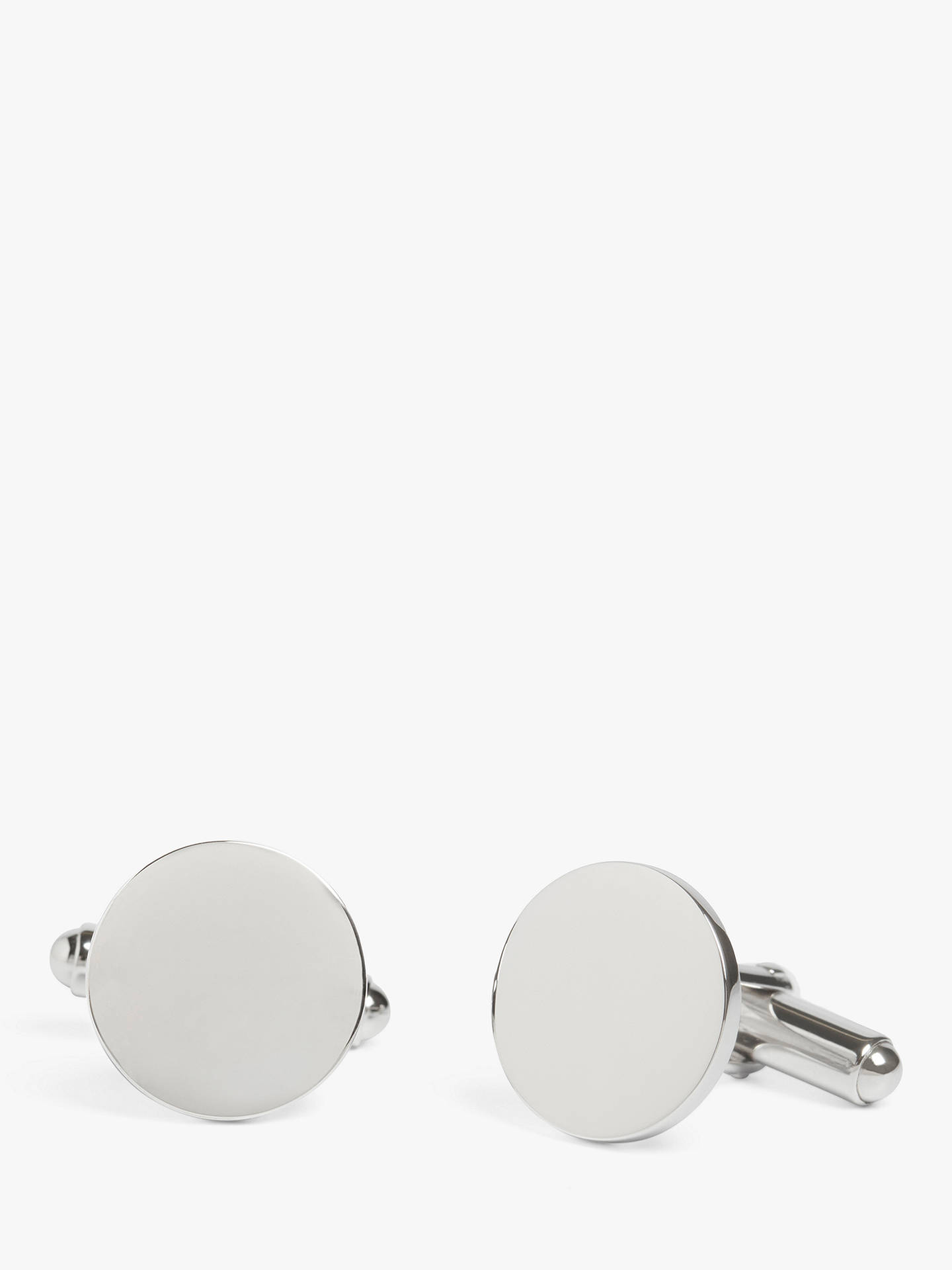 BuySimon Carter for John Lewis Sterling Silver Round Cufflinks Online at johnlewis.com