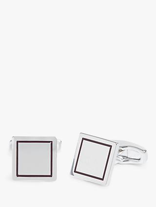 Simon Carter for John Lewis & Partners Square Cufflinks, Silver
