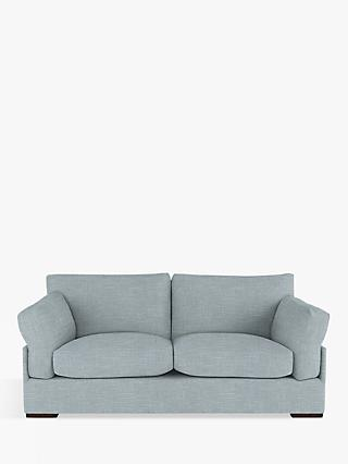 John Lewis & Partners Java Large 3 Seater Sofa, Dark Leg, Hope Grey