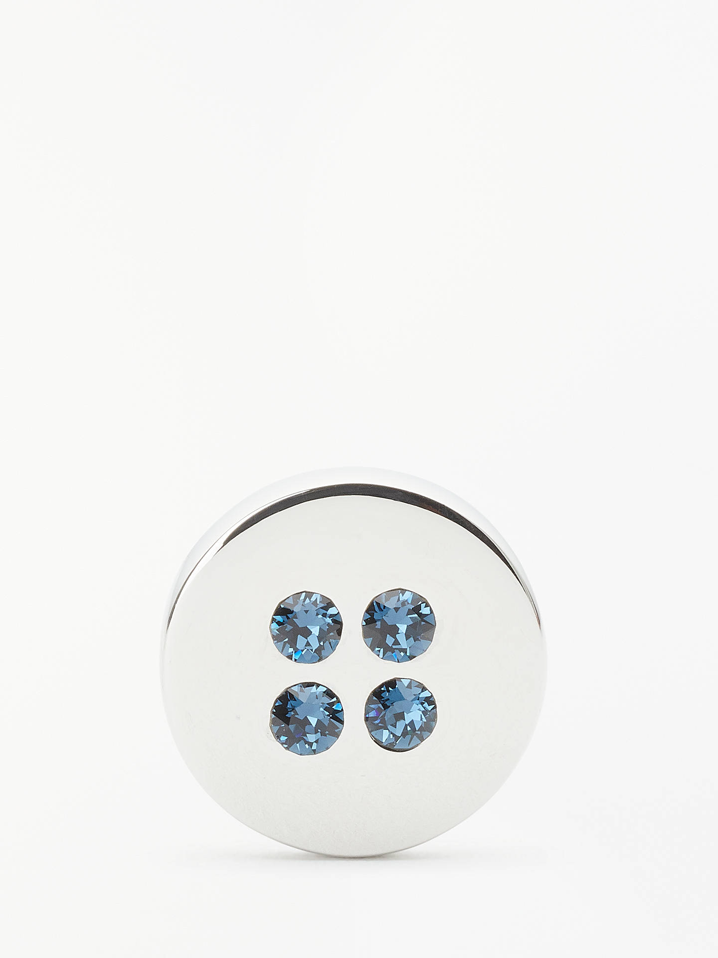 9e25ad28ccf0d Simon Carter Swarovski Crystal Button Cufflinks, Montana Blue