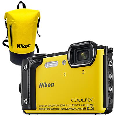 Image of Nikon COOLPIX W300 GPS Waterproof, Freezeproof, Shockproof, Dustproof Digital Camera, 16MP, 4K UHD, 5x Optical Zoom, Bluetooth, 3 LCD Screen