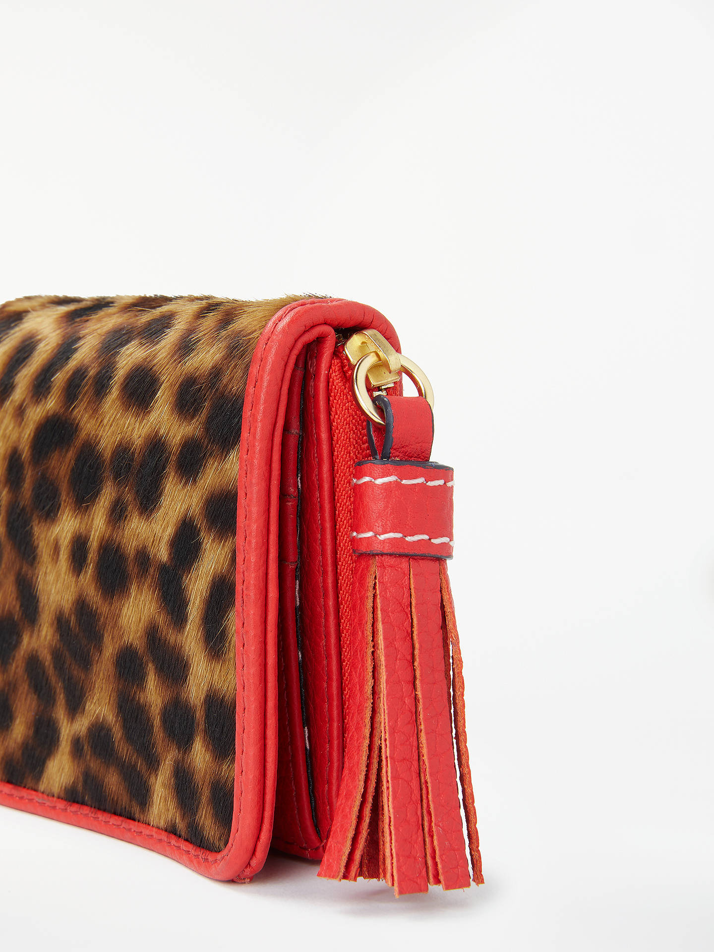 BuyBoden Leopard Print Tassel Purse, Tan Leopard Online at johnlewis.com