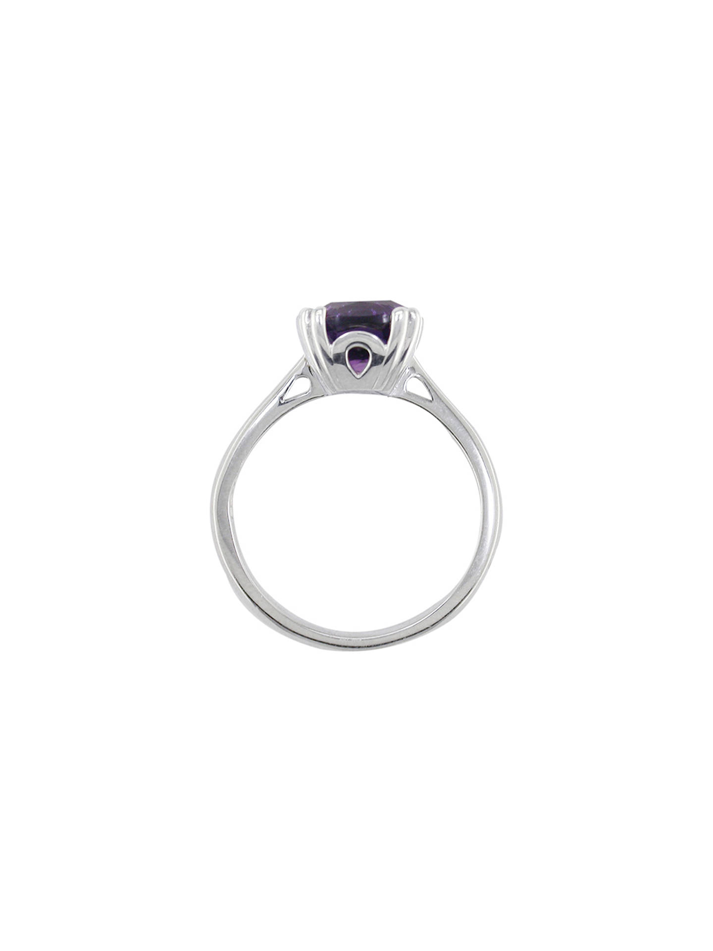 BuyEWA 9ct Gold Cushion Cocktail Ring, M, Amethyst Online at johnlewis.com