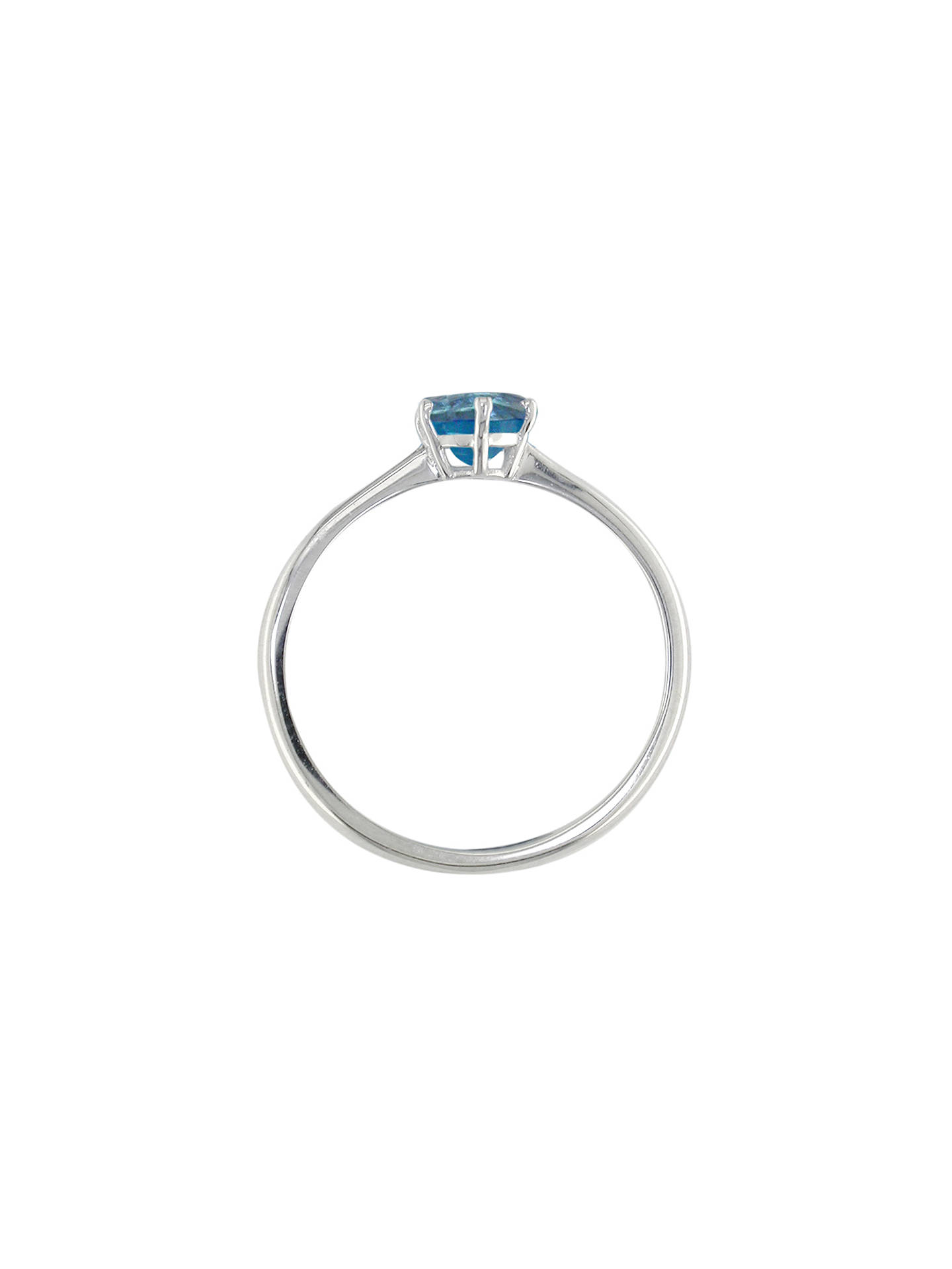 Buy E.W Adams 9ct White Gold Round Semi-Precious Stone Ring, Blue Topaz Online at johnlewis.com