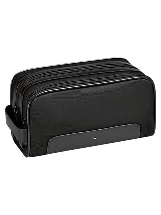Montblanc Nightflight Leather Washbag, Black
