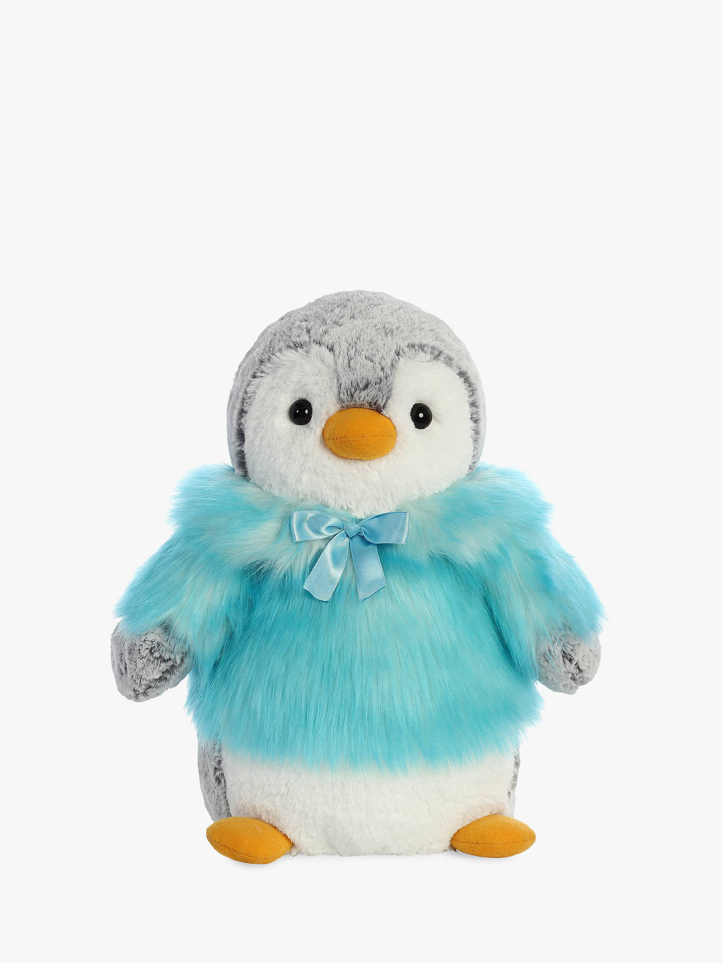 Buy Aurora World Pompom Penguin With Coat Soft Toy, Teal, Small Online at johnlewis.com