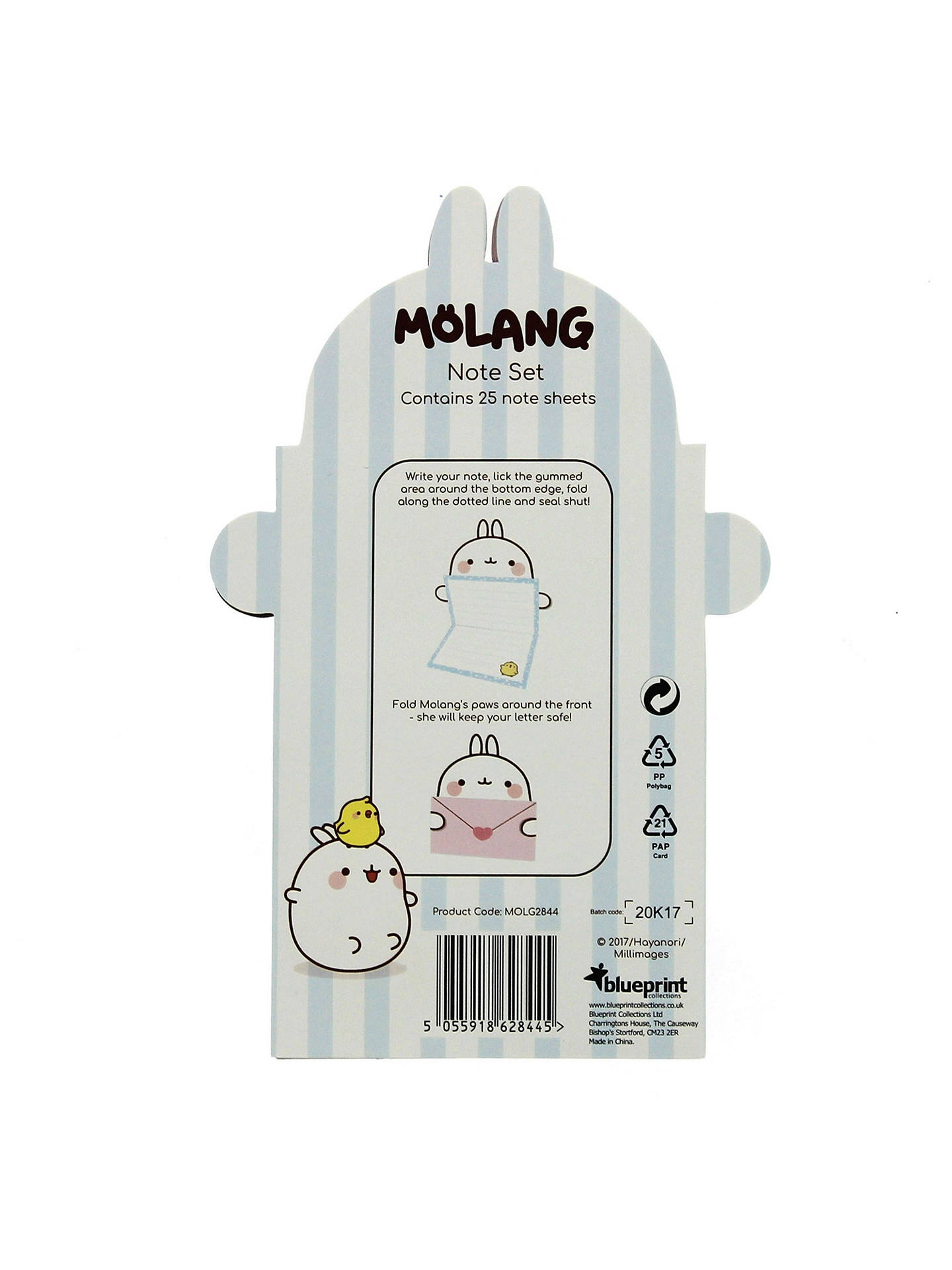 BuyBlueprint Pic N Mix Molang Little Note Set Online at johnlewis.com