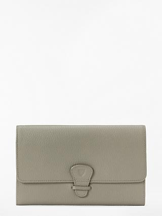 Aspinal of London Classic Leather Travel Wallet, Warm Grey