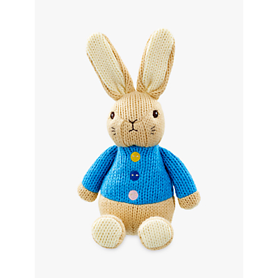 Image of Peter Rabbit Knitted Flopsy Bunny Rabbit Soft Toy