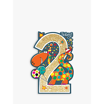 Image of Rachel Ellen Age 2 Dinosaur Birthday Card