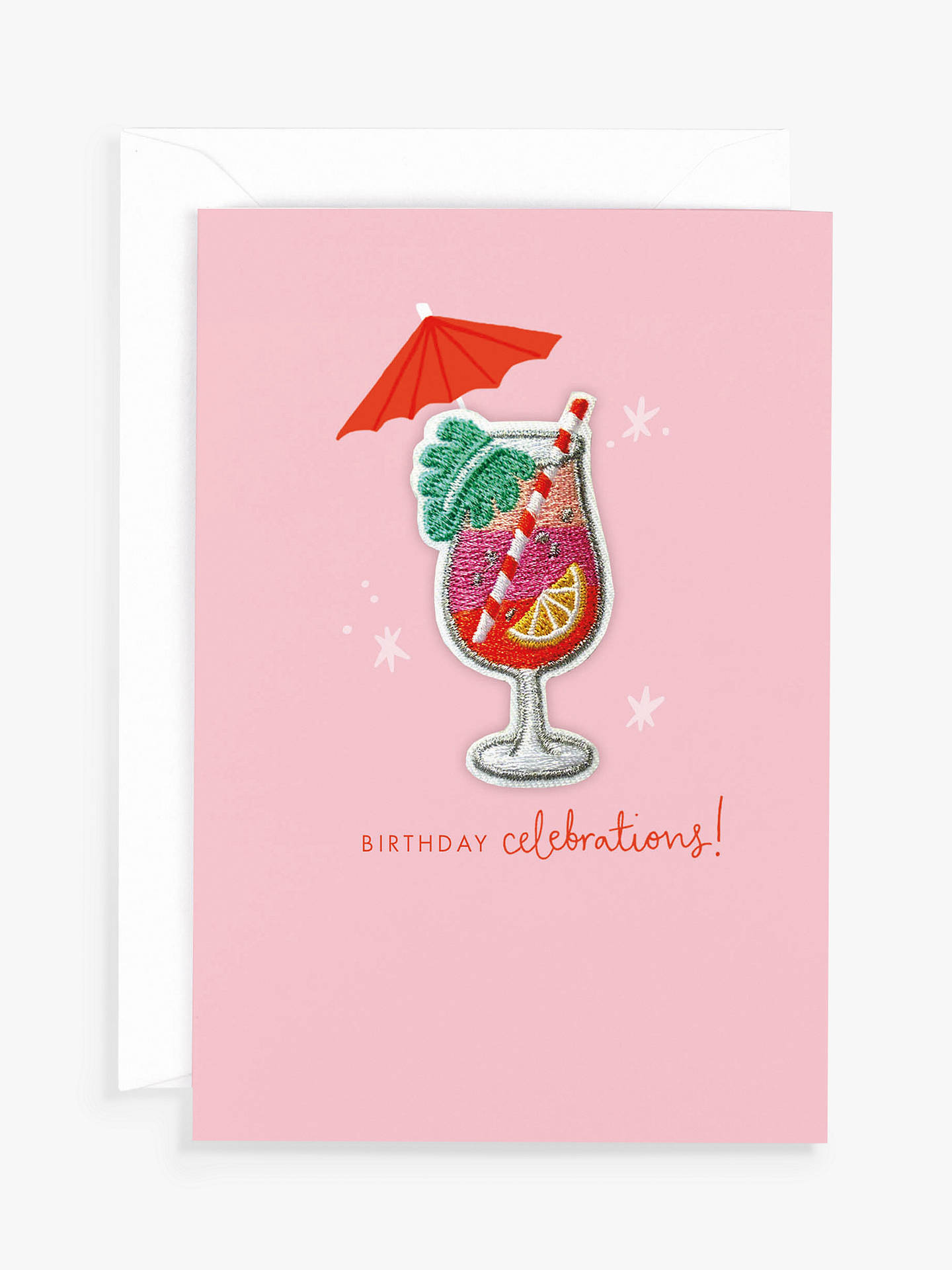 BuyHotchpotch Cocktail Patch Birthday Card Online at johnlewis.com