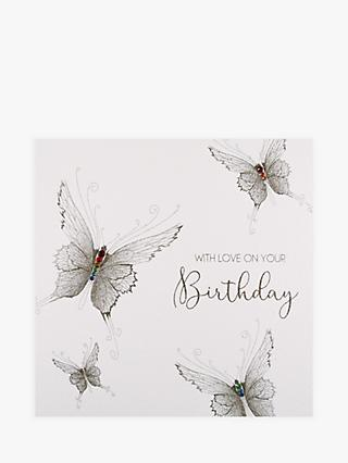 Five Dollar Shake Butterflies With Love On Your Birthday Card
