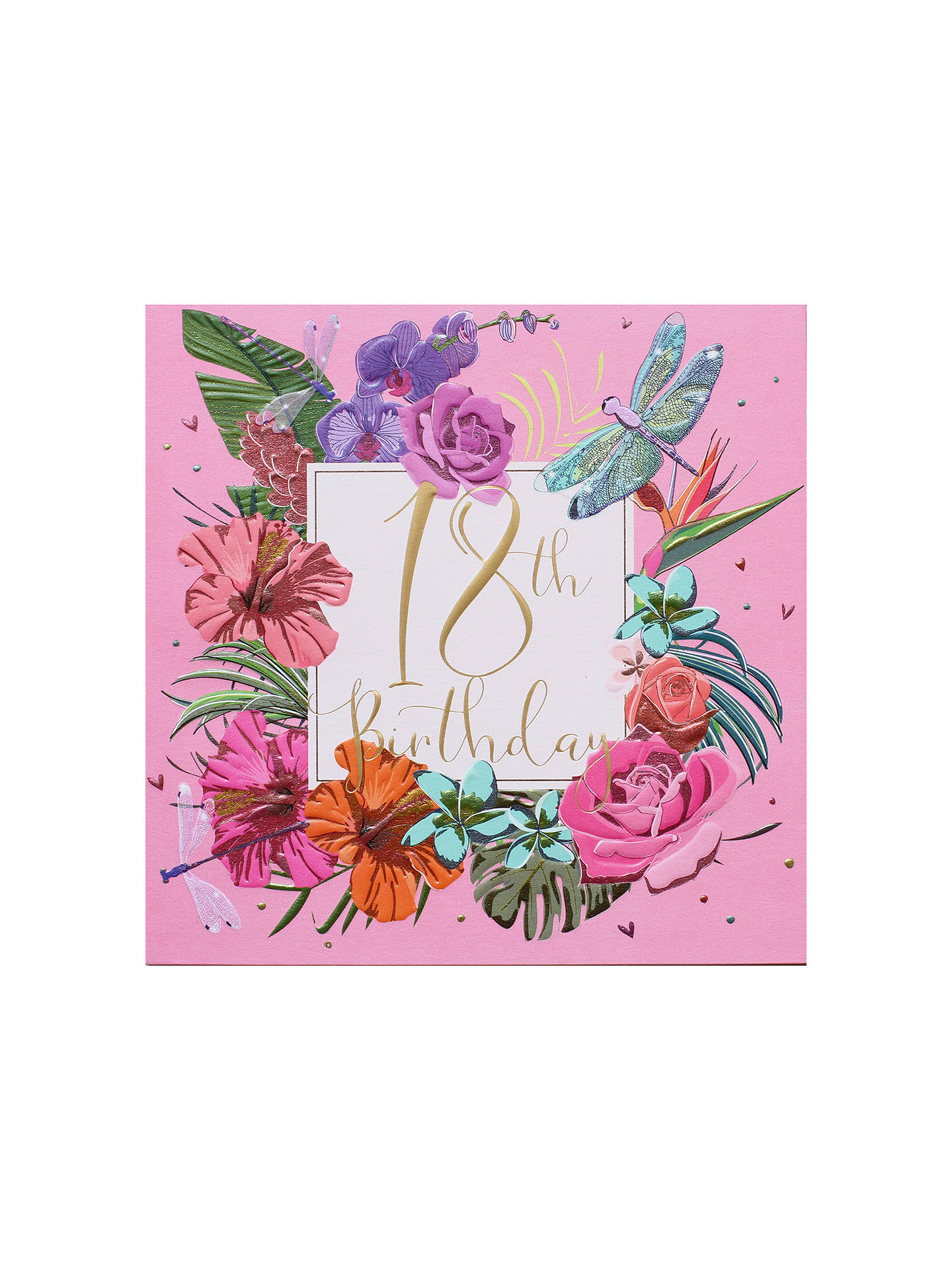 BuyBelly Button Designs Floral 18th Birthday Card Online at johnlewis.com