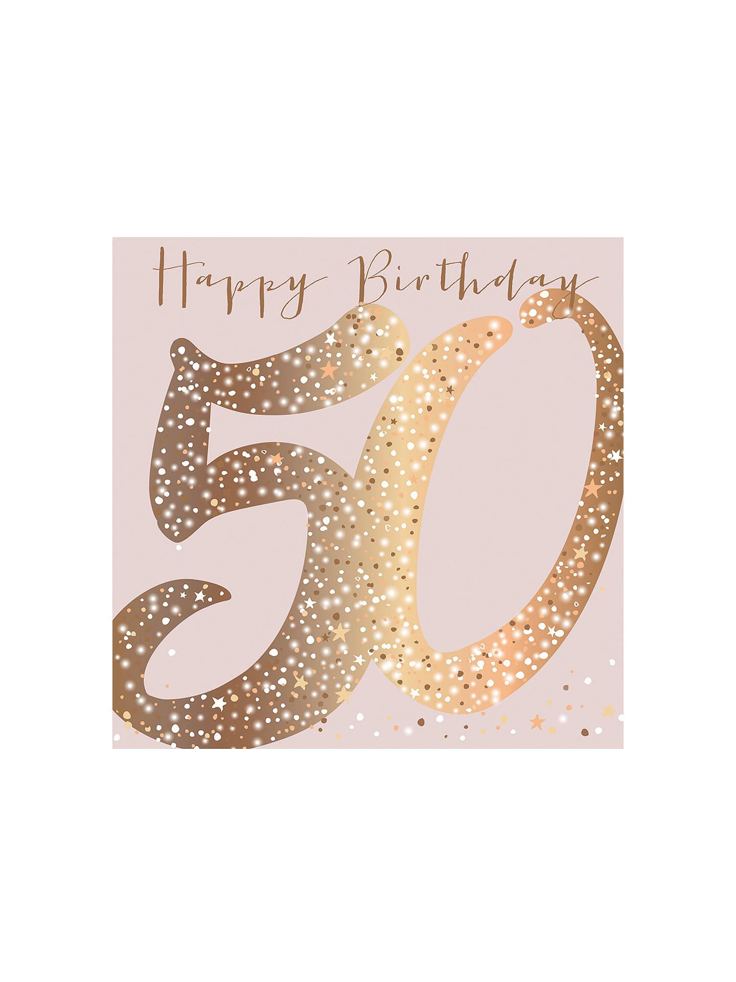 Belly Button Designs 50th Birthday Card
