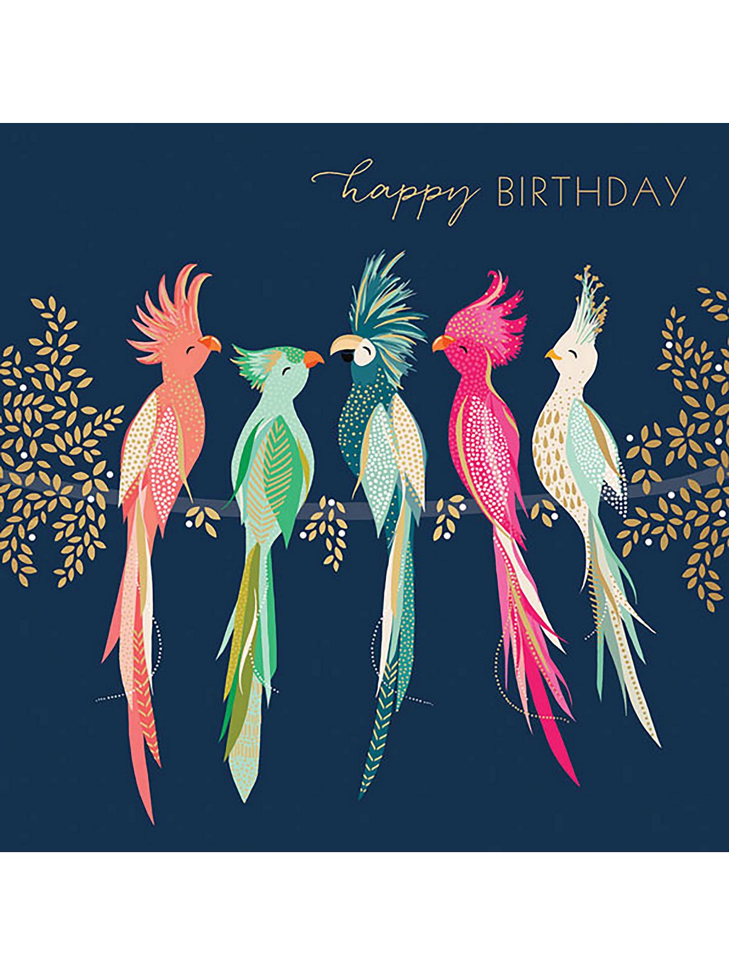 Buy Art File Cockatoos Birthday Card Online At Johnlewis