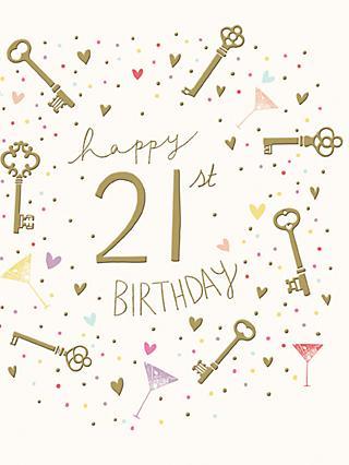 Woodmansterne 21st Birthday Card