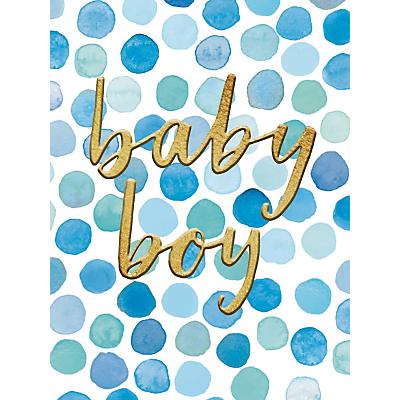 Image of Woodmansterne New Baby Boy Polka Dot Card