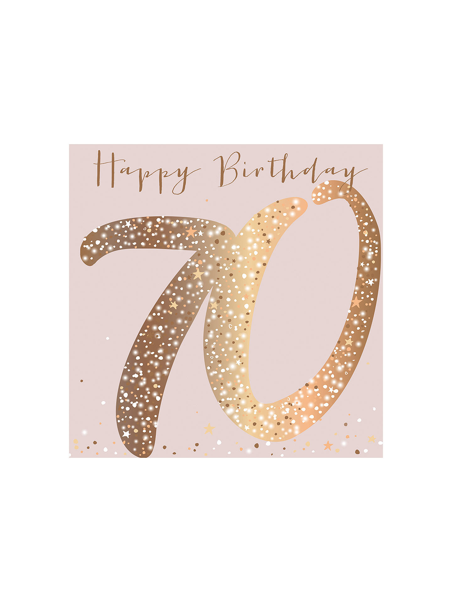 Belly Button Designs 70th Birthday Card