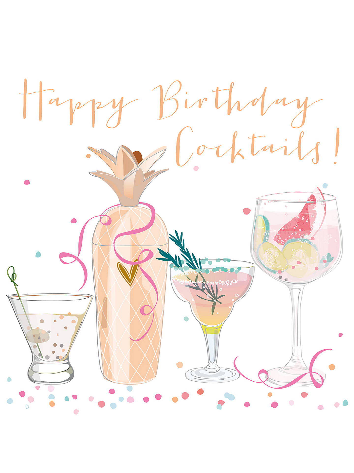 Buy Belly Button Designs Cocktails Birthday Card Online At Johnlewis