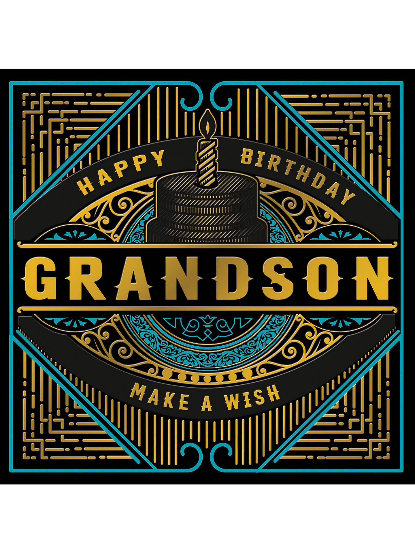 Buy Woodmansterne Happy Birthday Grandson Card Online At Johnlewis