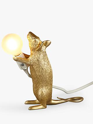 Seletti Standing Mouse Table Lamp, Gold