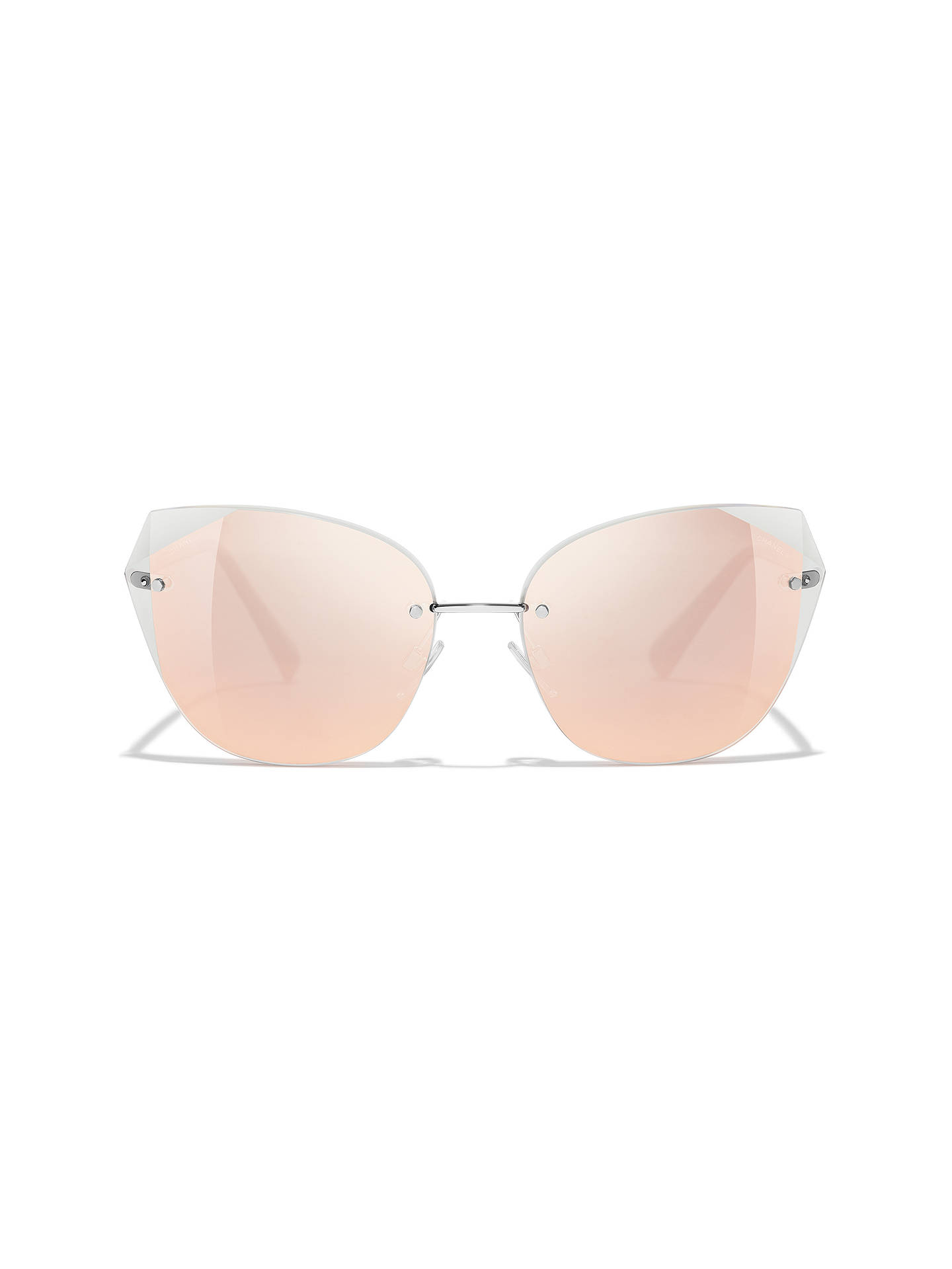 BuyCHANEL Cat Eye Sunglasses CH4237 Silver/Pink Online at johnlewis.com